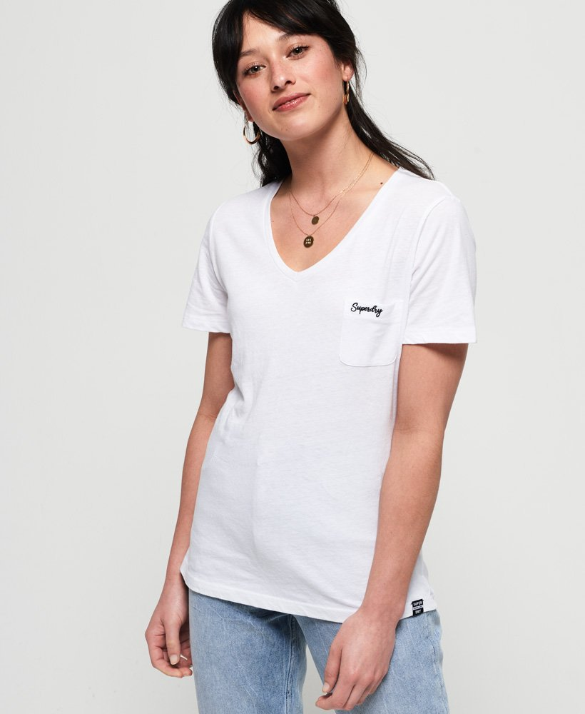 Superdry T-shirt à col V Essential Orange Label thumbnail 1