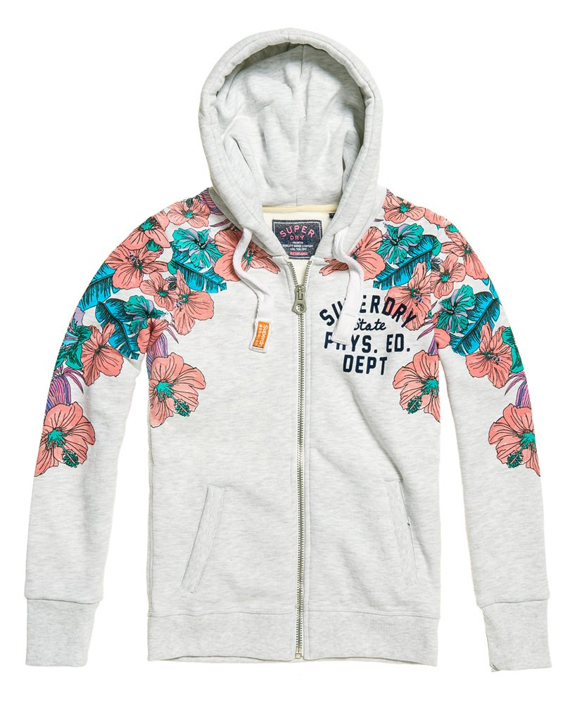 Superdry Tropical Floral Zip Hoodie thumbnail 1