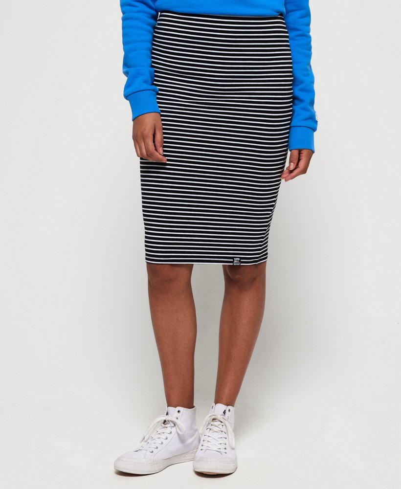 Superdry Stripe Midi Skirt thumbnail 1