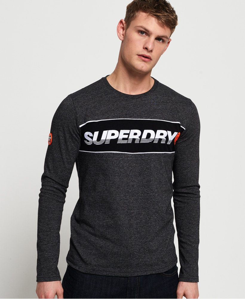 Superdry T-shirt a maniche lunghe con applicazione New House thumbnail 1