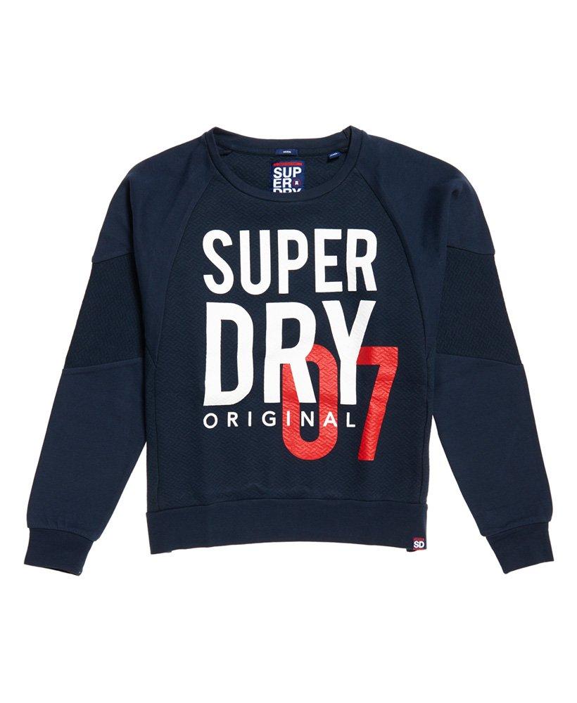 Superdry SD Dimensional sweatshirt met ronde hals en inzetstukken thumbnail 1