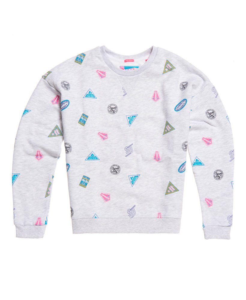 Superdry Miami Printed Crew Sweatshirt thumbnail 1