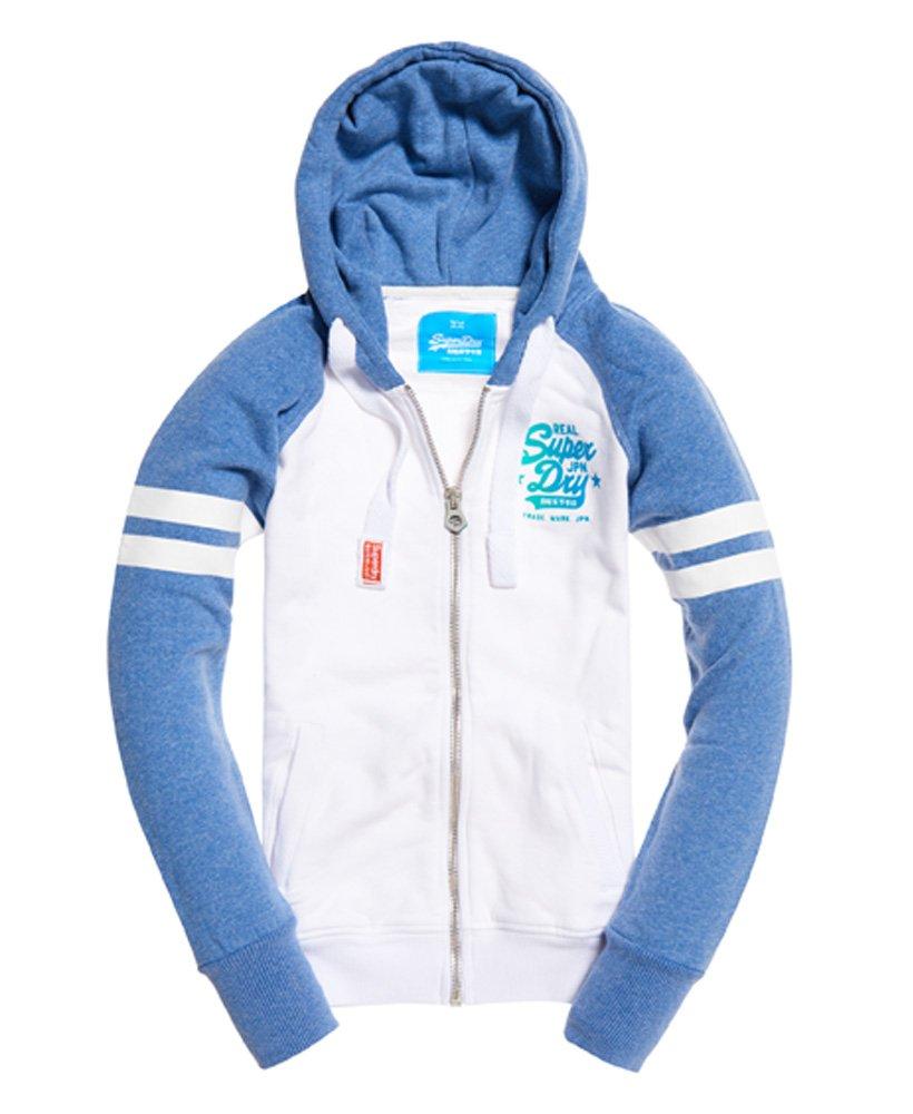Superdry Real Vintage Iridescent hoodie met rits  thumbnail 1