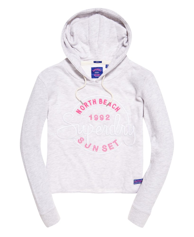 Superdry Kurzhoodie mit Applikation Damen Hoodies