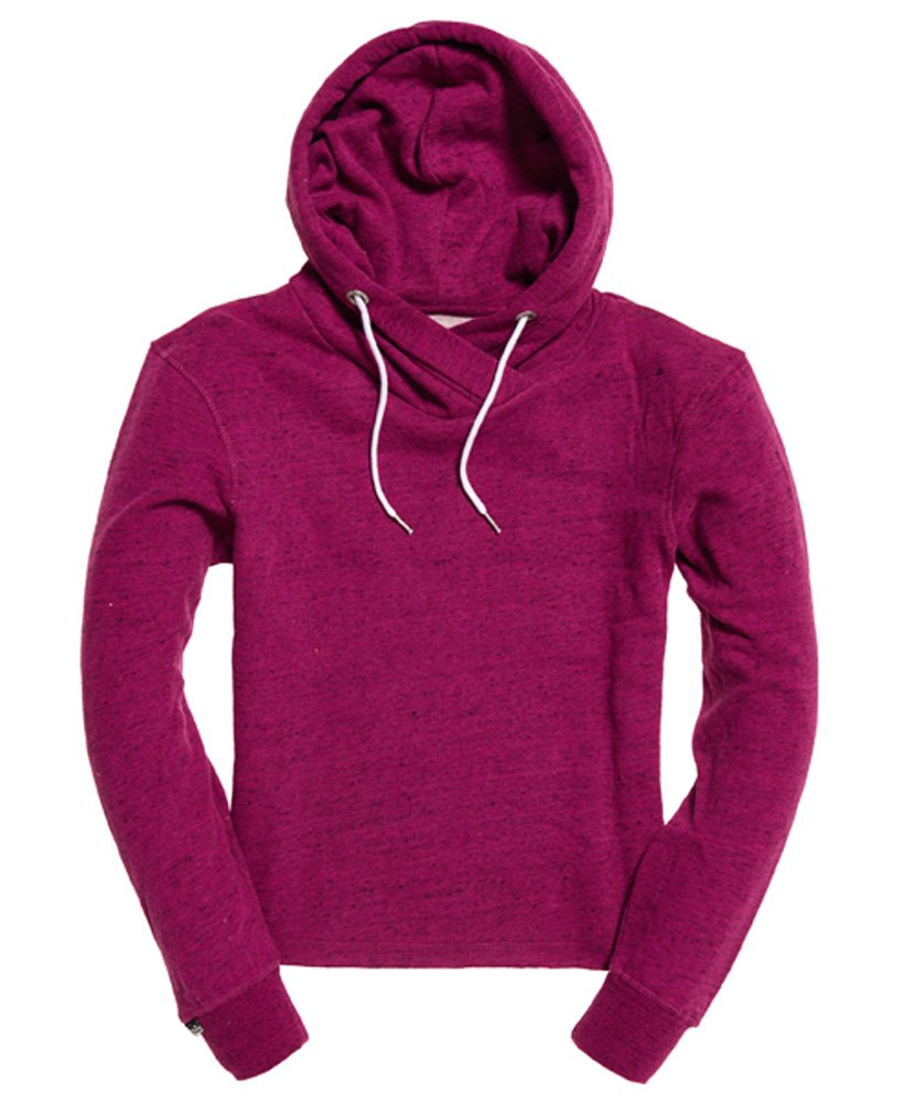 Superdry Orange Label Luxe Edition Cropped Hoodie thumbnail 1