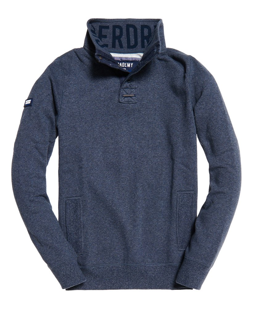Superdry Academy Long Sleeved Henley Top thumbnail 1