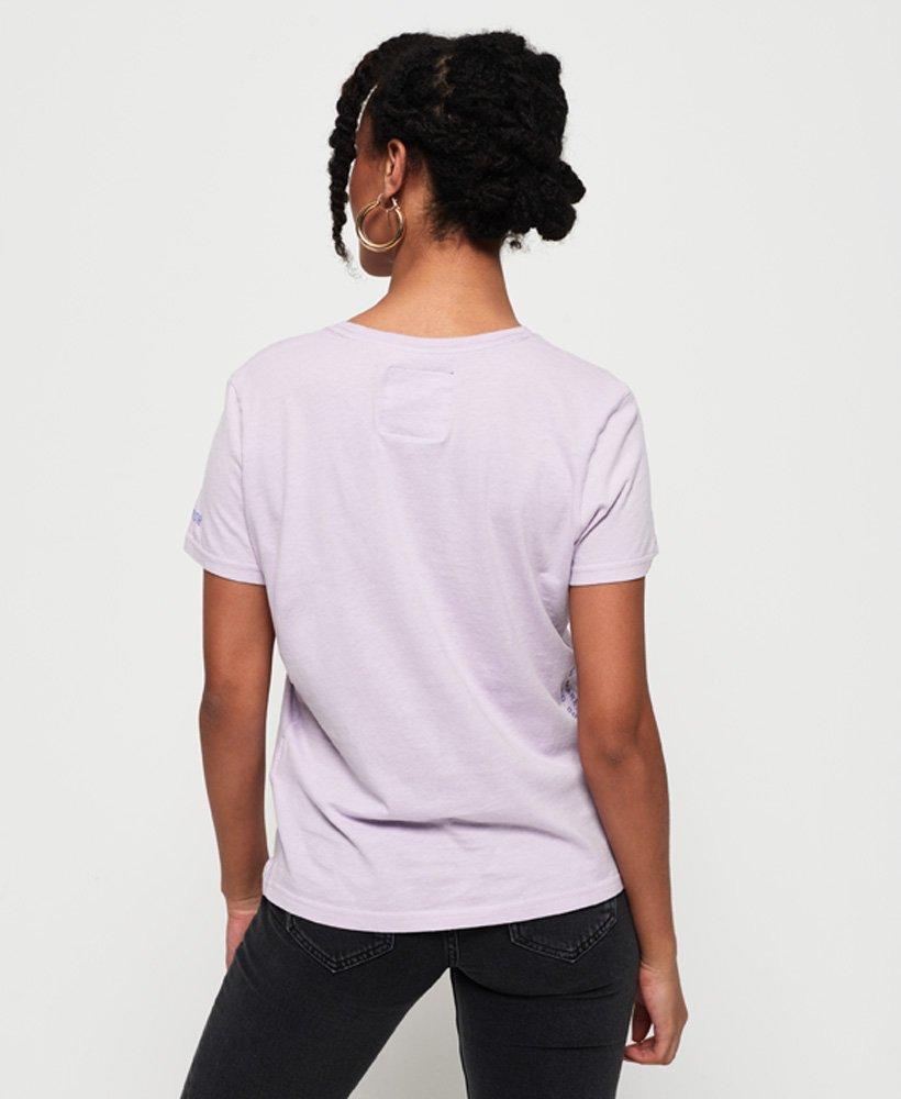 Superdry Vintage Logo Code Bonded Satin T skjorte Dame T