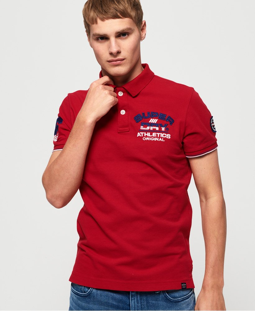 Superdry Super State Champion Organic Cotton Polo Shirt  thumbnail 1