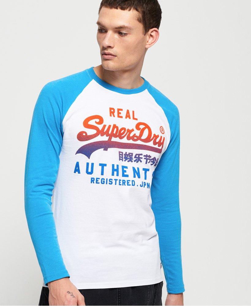 Superdry Vintage Authentic Raglan Long Sleeve T-Shirt thumbnail 1
