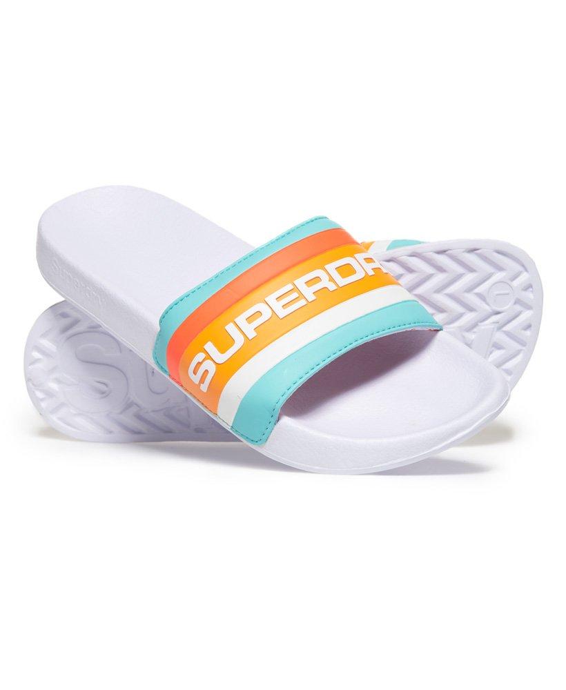 Superdry Sandales de piscine rétro à blocs de couleur thumbnail 1