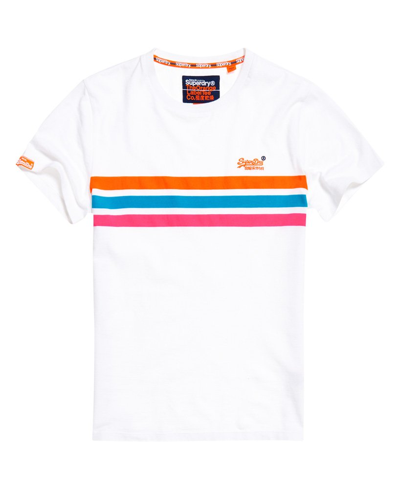 Superdry Orange Label Fluro Chest Band T skjorte Herre T
