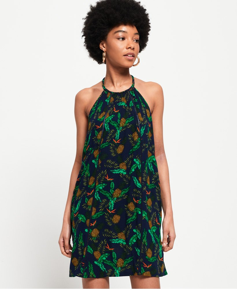 Superdry Riley Lace Halter Dress thumbnail 1