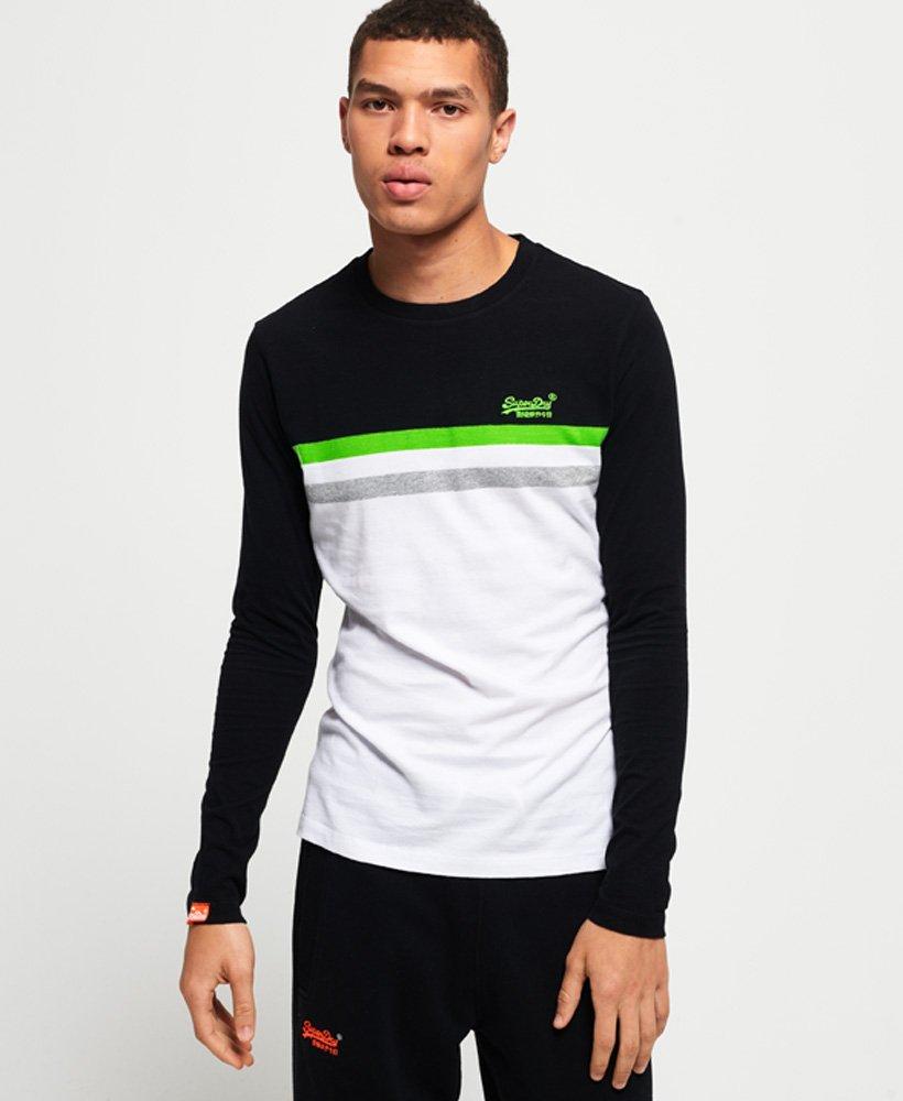 Superdry Orange Label Neon Stripe Long Sleeve T-Shirt
