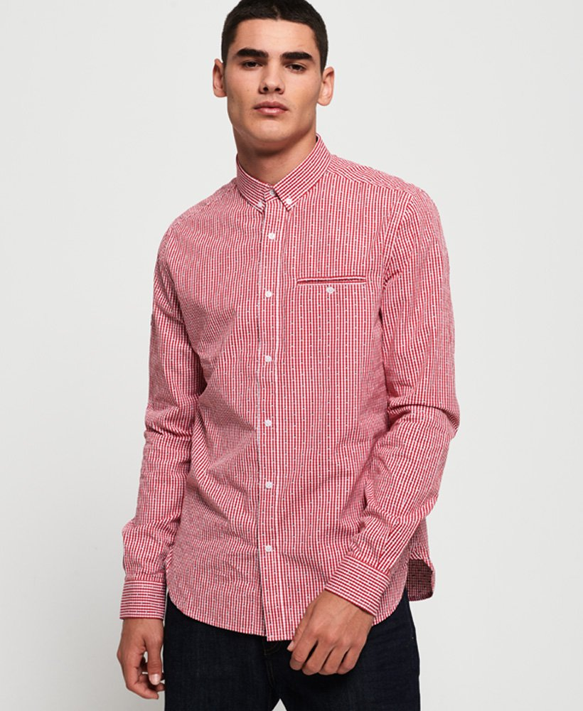 Superdry Premium University Long Sleeve Shirt  thumbnail 1