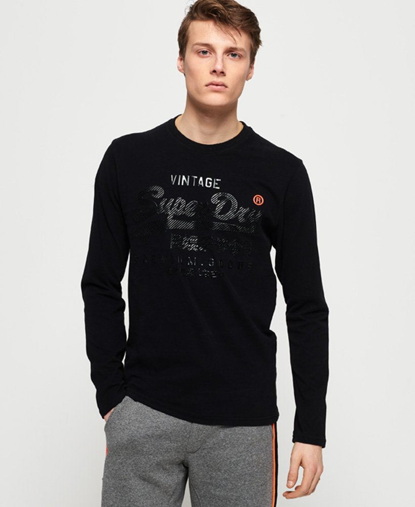 Superdry Premium Goods Tonal Long Sleeve T-Shirt thumbnail 1
