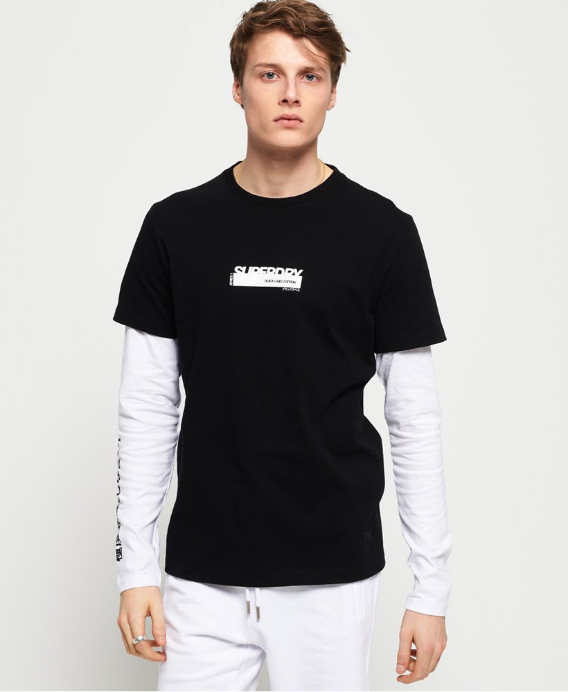 Superdry Black Label Edition Double Long Sleeve T-Shirt thumbnail 1