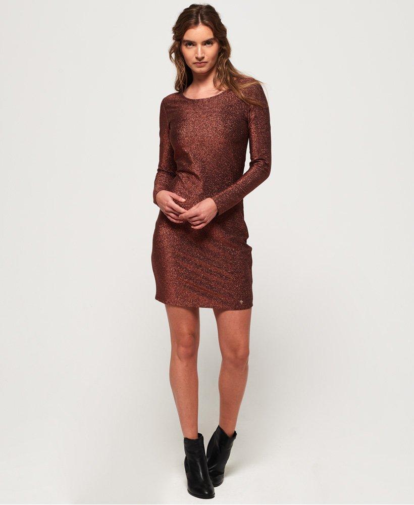 ecb08aab95e144 Superdry Mia Shimmer jurkje - Jurken voor Dames