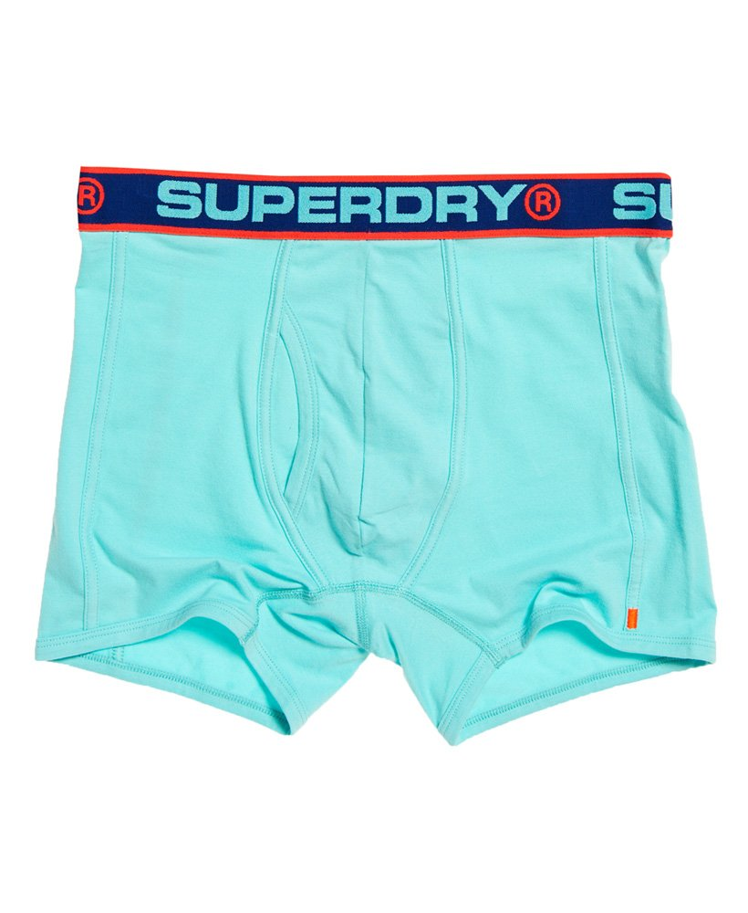 Superdry Boxer Sport Double Pack Bright MINT//lay up blue