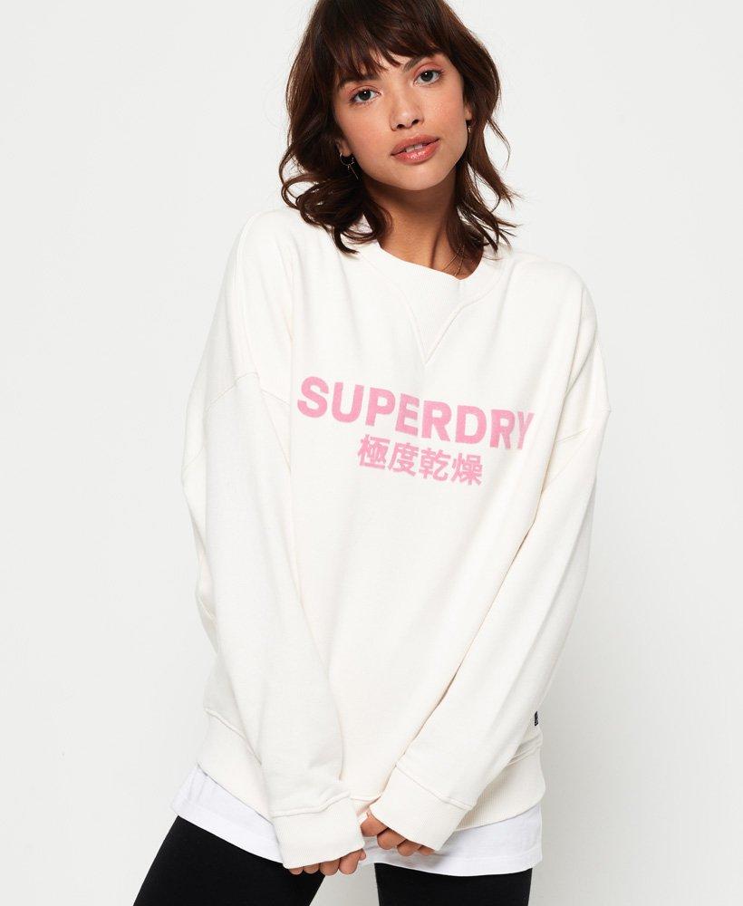 Superdry Freya sweatshirt met ronde hals thumbnail 1