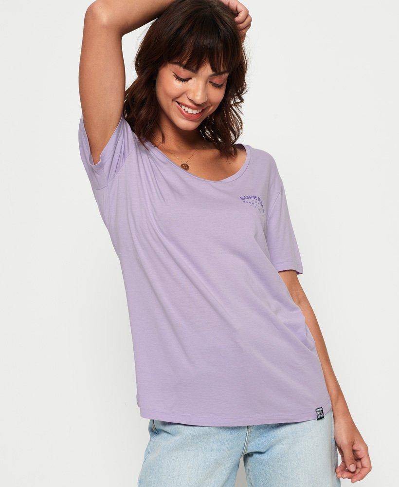 Superdry T-shirt avec imprimé graphique et décolleté Katie  thumbnail 1