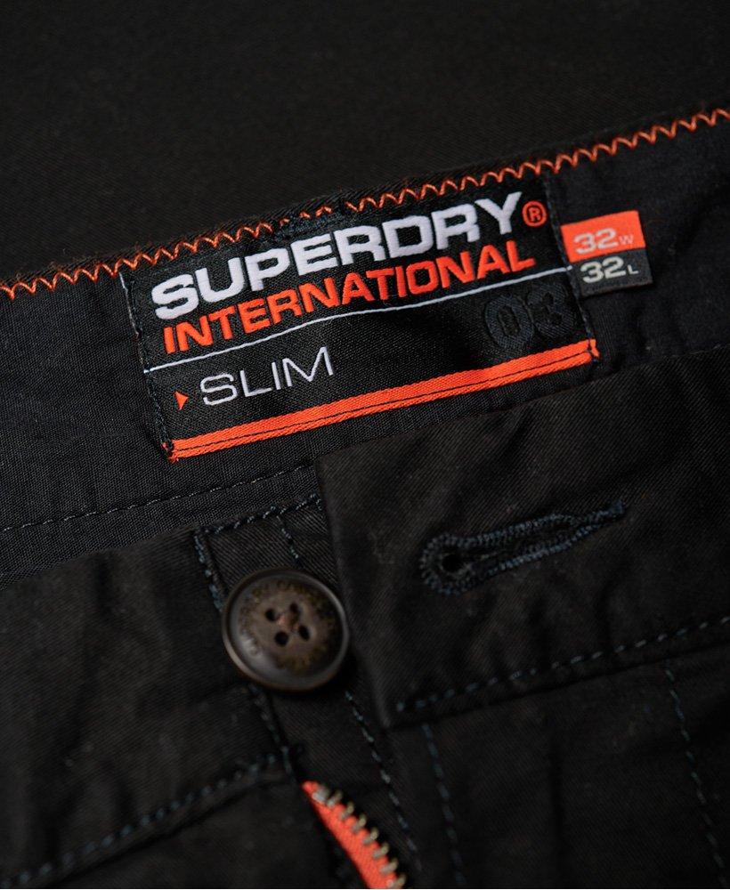 Superdry Pantalon chino International avec bandes latérales