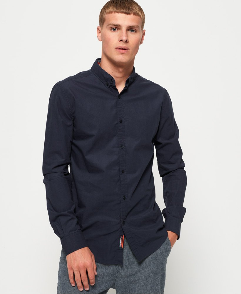 Superdry International Poplin Long Sleeve Shirt thumbnail 1