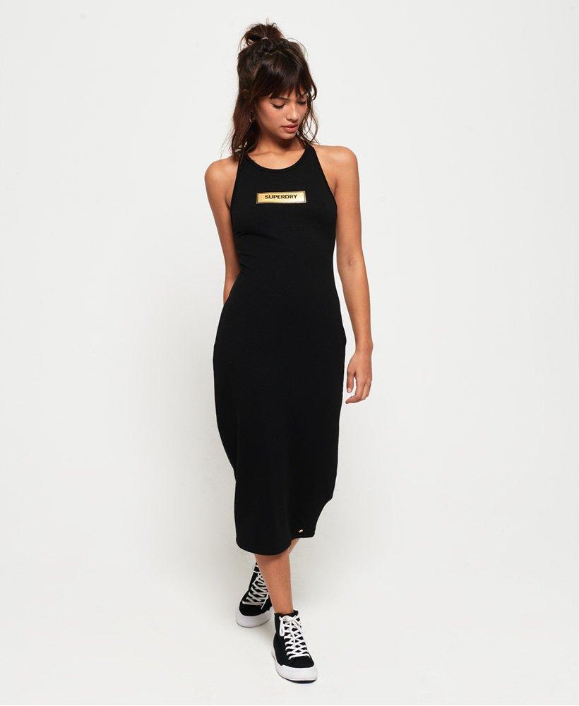 Superdry Alex Midi kjole Dame Kjoler