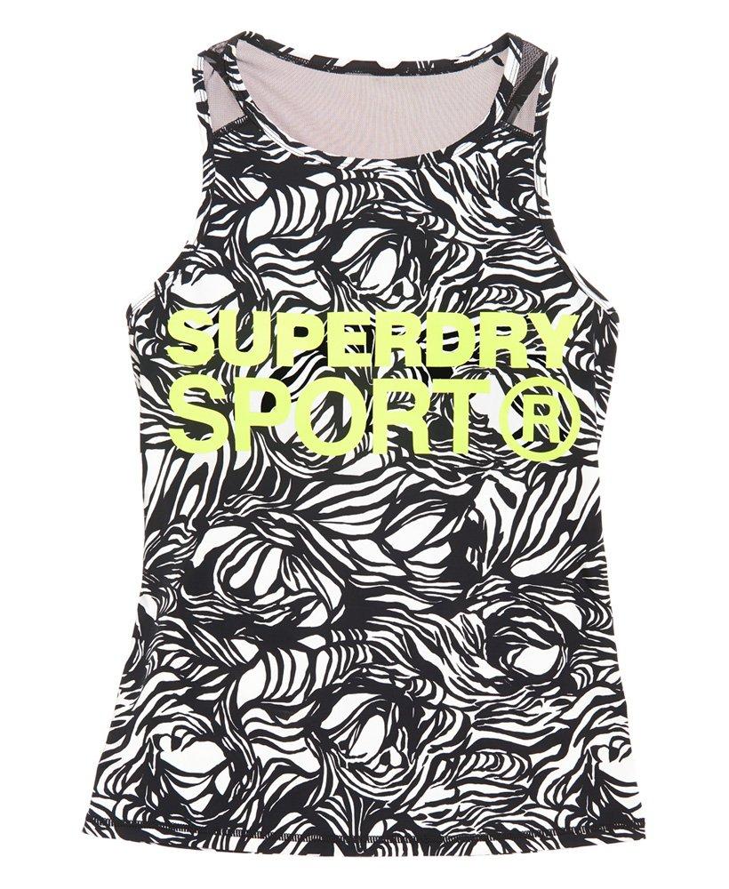 7b4bec240ba11 Superdry - Débardeur à empiècement en mesh Active - Tops pour Femme