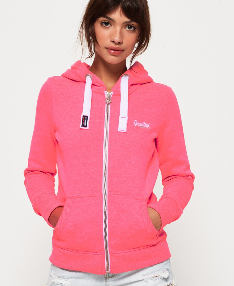 Superdry Orange Label Primary Zip Hoodie Women's Hoodies