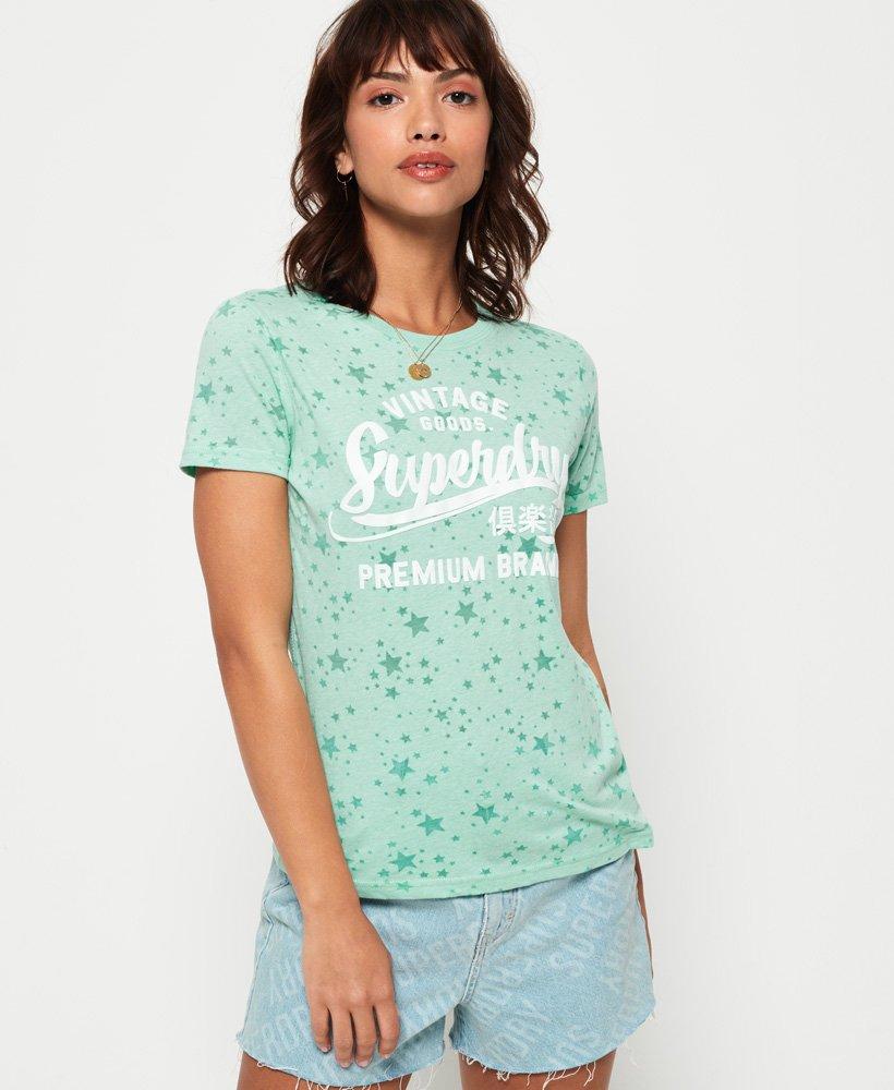 Superdry T-shirt à imprimé étoiles sur l'ensemble Vintage Goods thumbnail 1