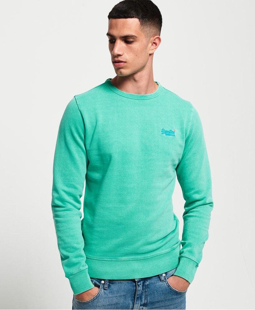 Superdry Sweatshirt mit Rundhalsausschnitt und pastellfarbenem Streifen a thumbnail 1