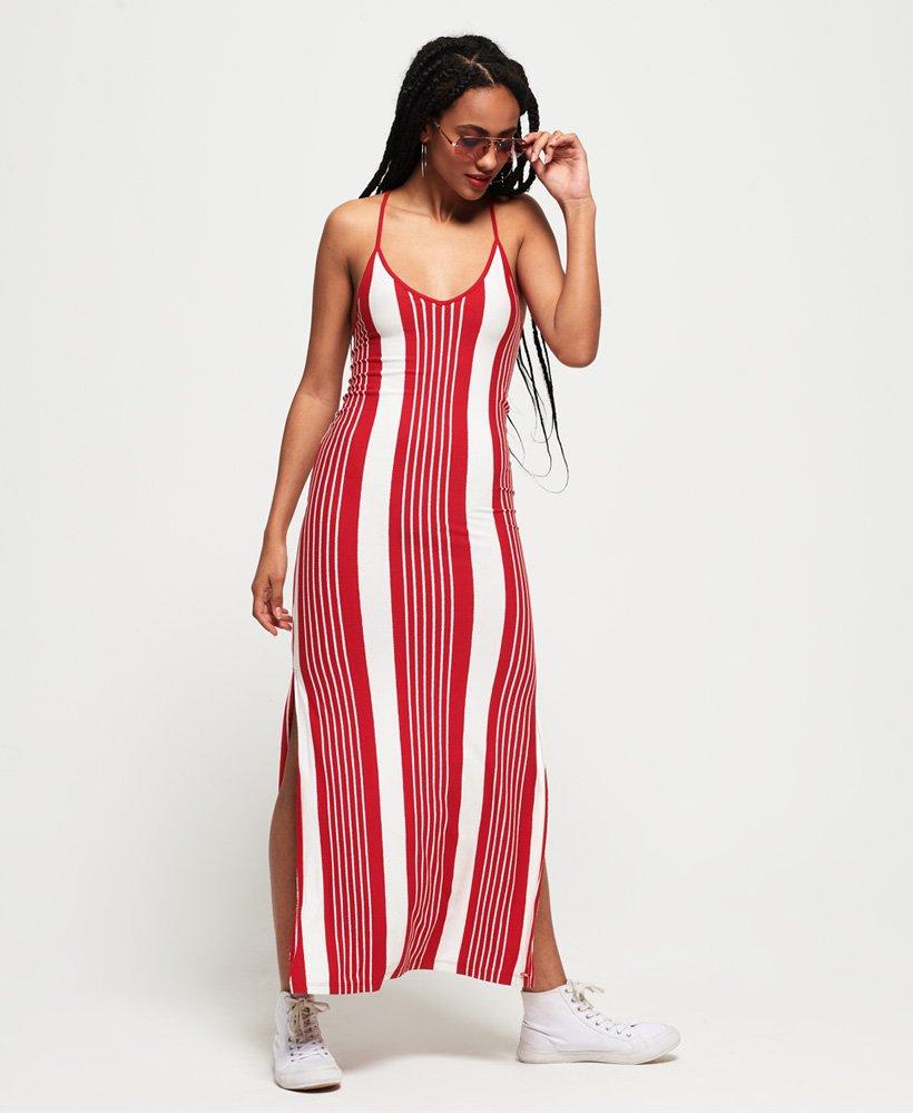d84b96de Superdry Azur Stripe Maxi-kjole - Dame Kjoler