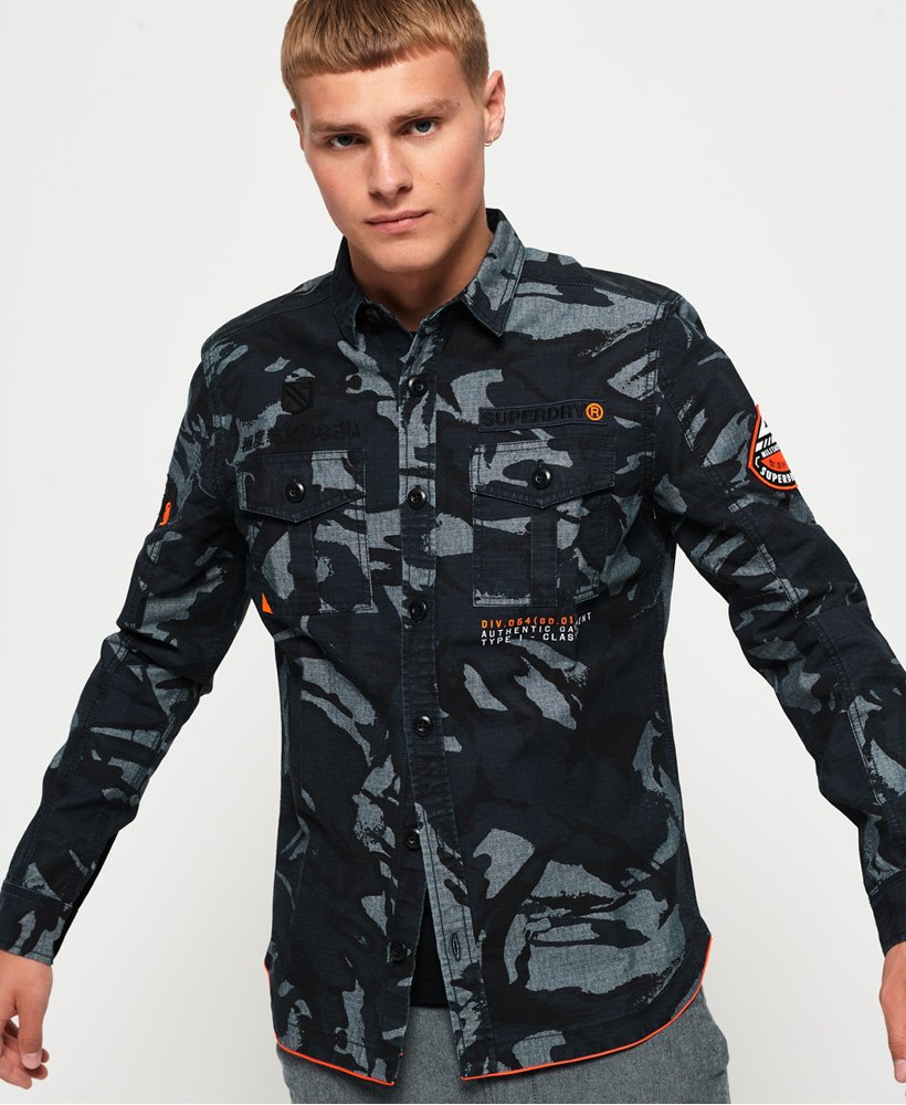 Superdry Chemise Military Storm Chemises pour Homme