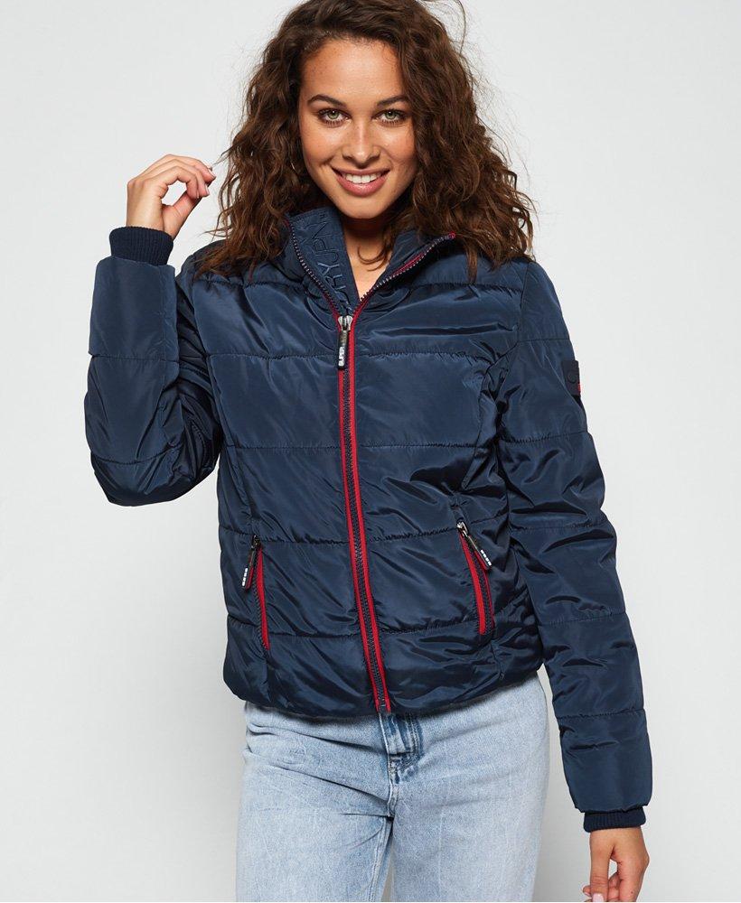 manteau bleu marine superdry femme
