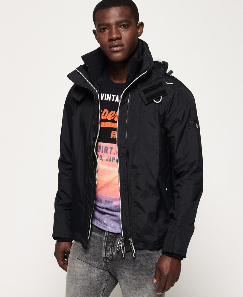 Superdry Technical Hooded Pop Zip SD Windcheater Mens Sale