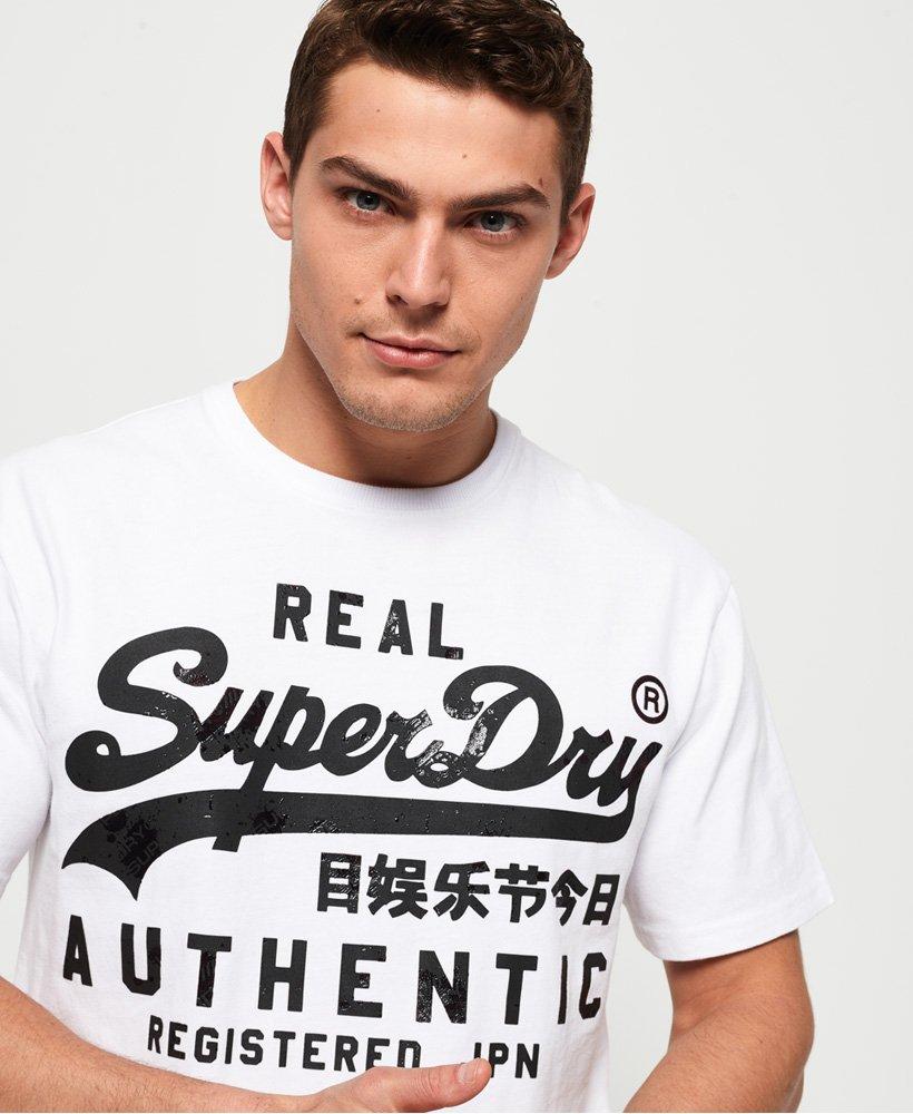 Superdry Klassisk T skjorte med skrift Herre T skjorter