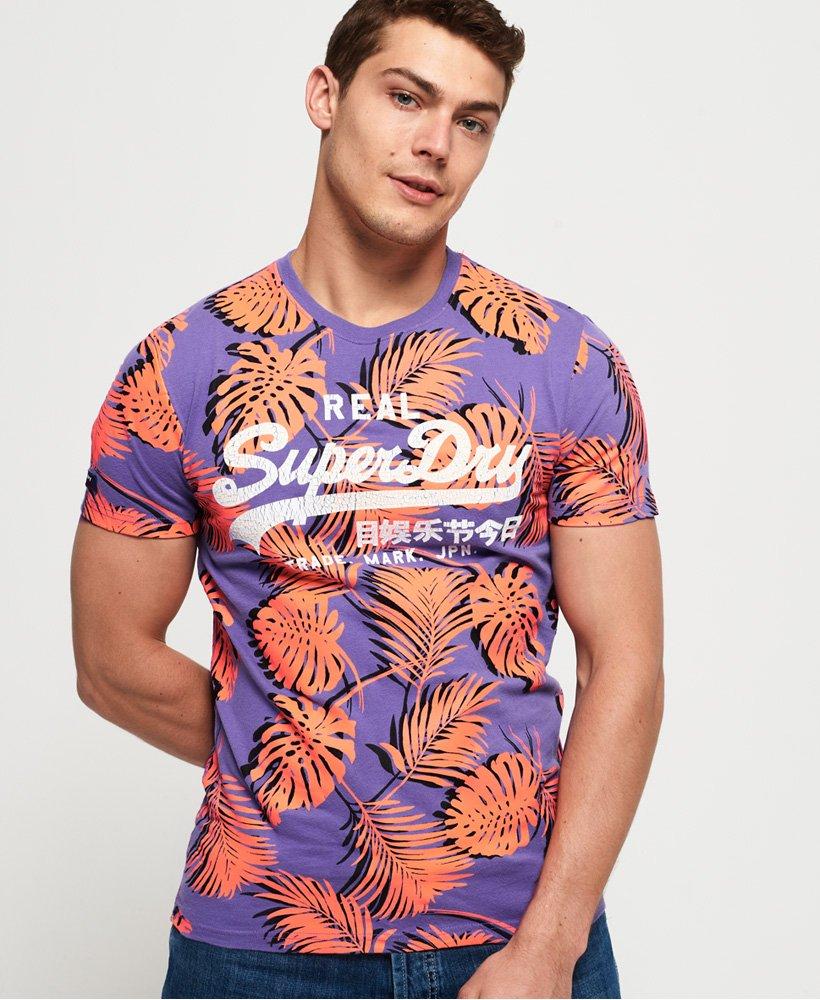 Superdry Mens Vintage Logo All Over Print Mid T-Shirt
