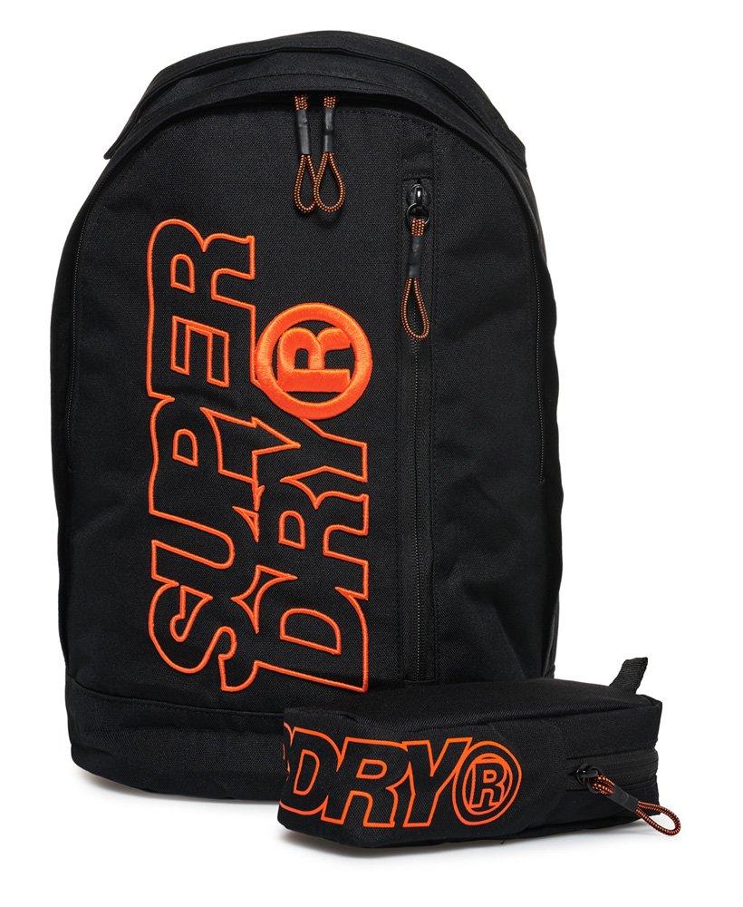 New Mens Superdry Zac Freshman Backpack Black Hazard