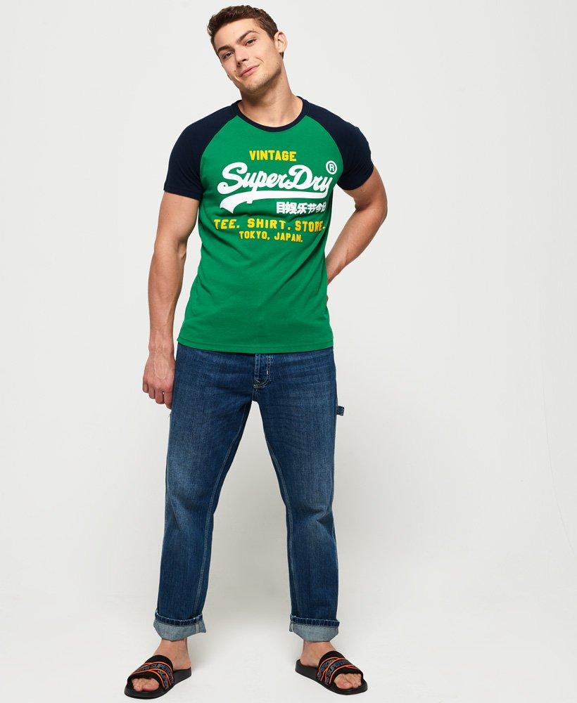 Superdry Shirt Shop Duo T skjorte med raglanermer Herre T