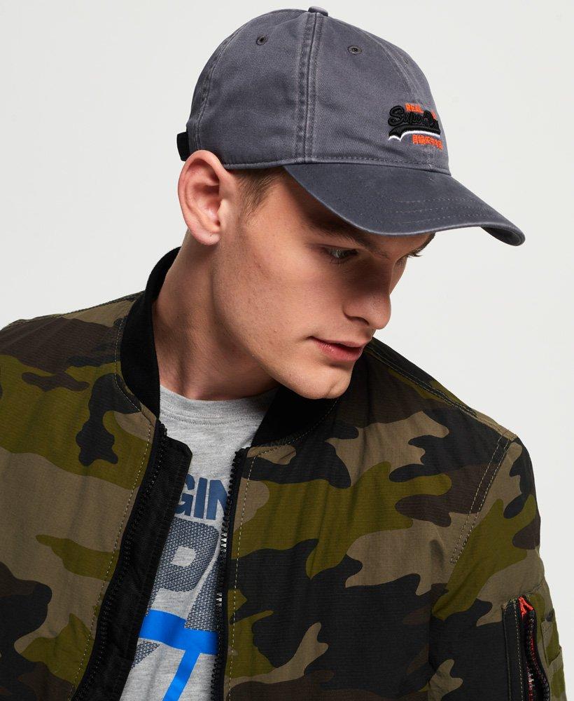Superdry Men/'s Orange Label Wash Twill Cap Grey