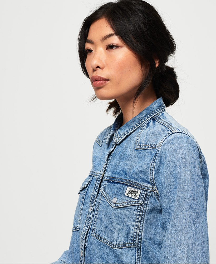 Superdry Camicia in denim Western thumbnail 1