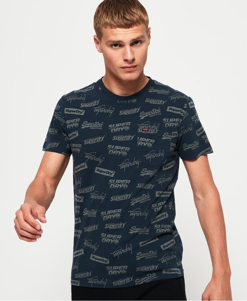 Superdry All Over Print Lite New House Rules T-Shirt thumbnail 1