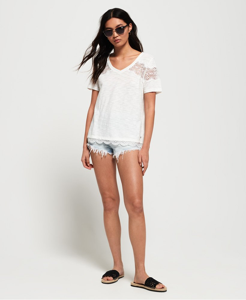 Superdry Womens Lizzie Lace Insert T-Shirt