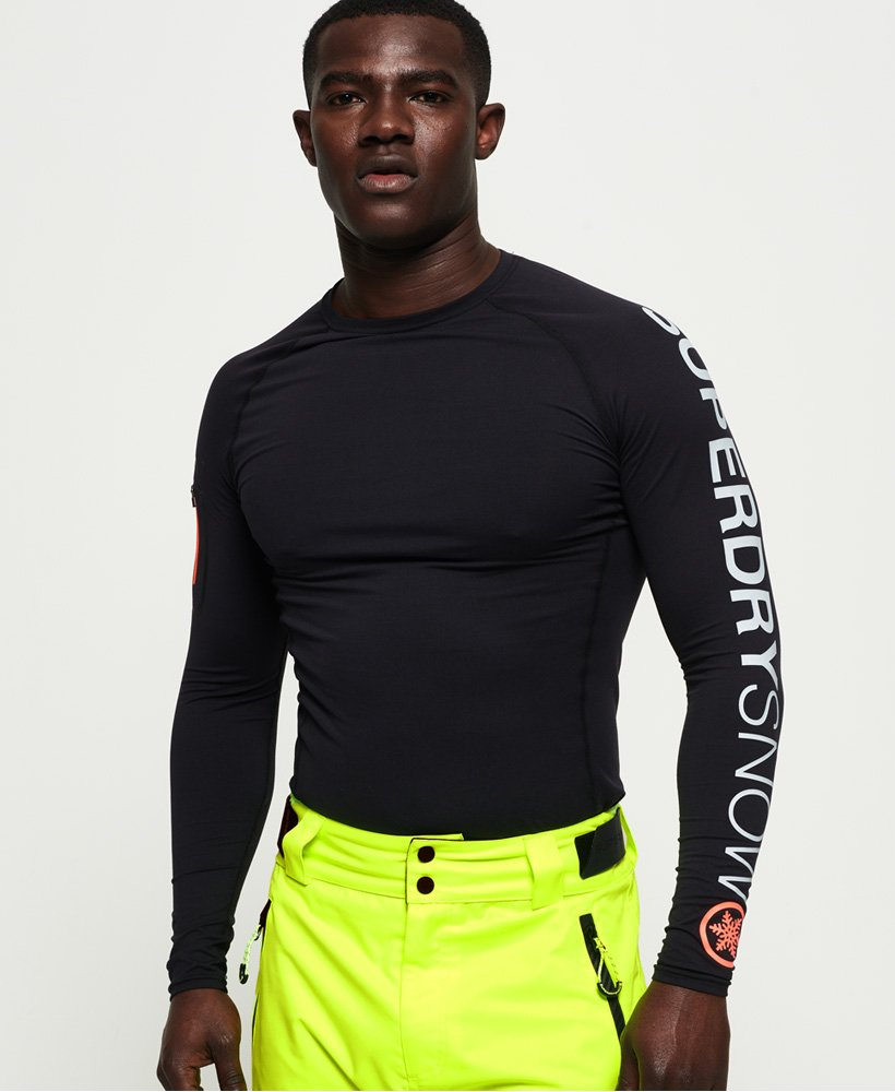 Superdry Carbon Base Layer Crew Top thumbnail 1