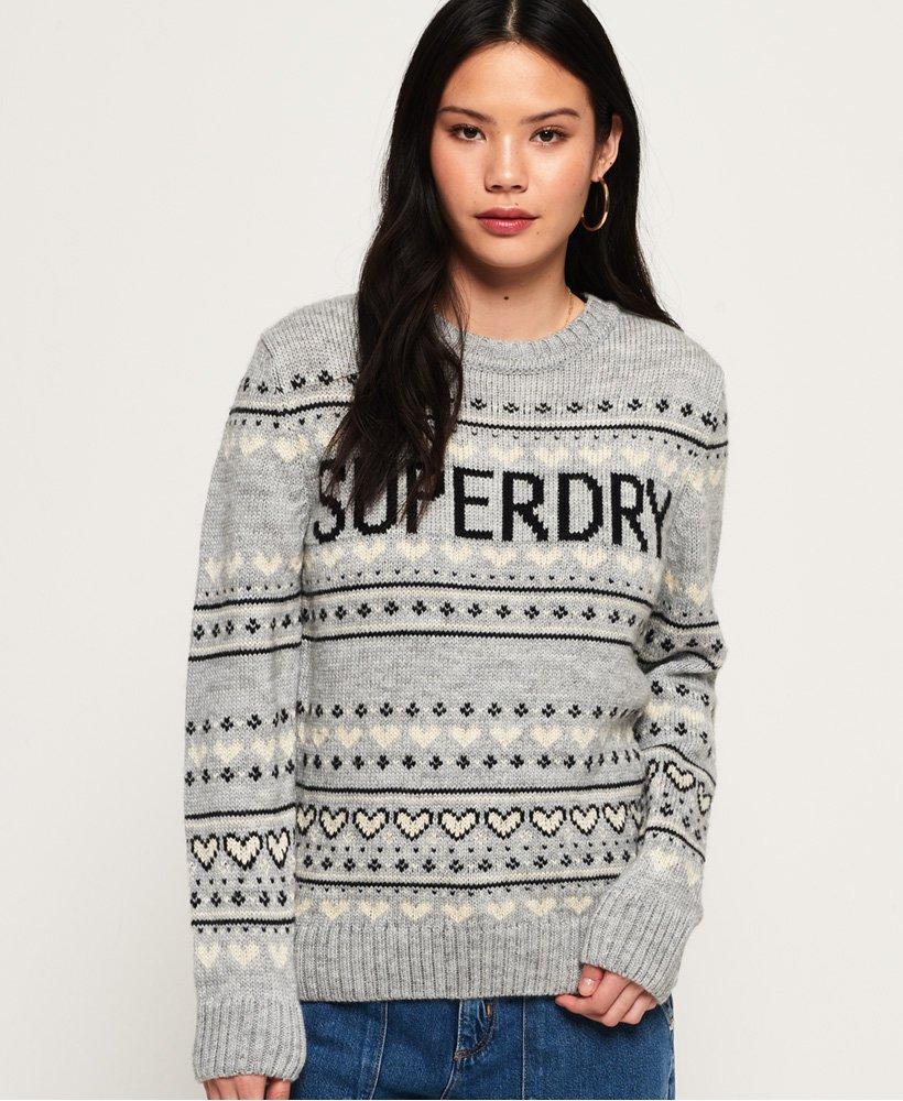 nye stilarter engrosforhandler officiel butik Superdry Cleveland trøje i fair isle-strik - Damer Strik