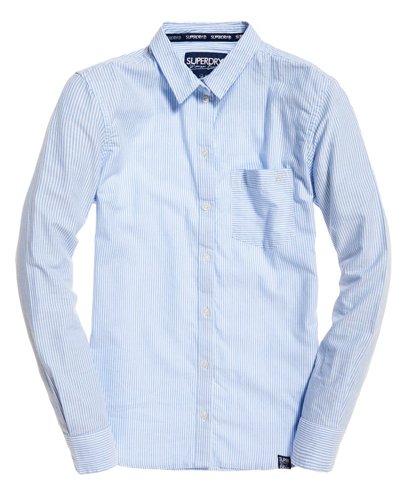 Thumbnail A Righe Camicia Superdry Oxford 2 trQshdC