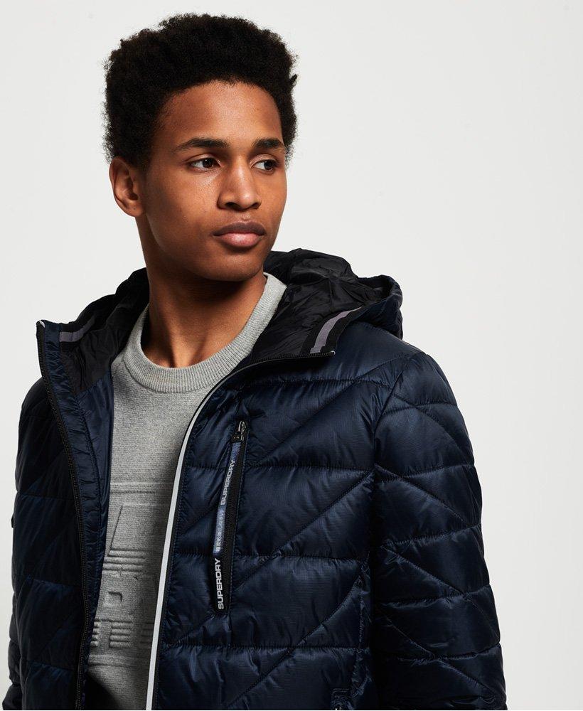 785a0f275e0ed Mens - Diagonal Quilt Fuji Jacket in Navy | Superdry