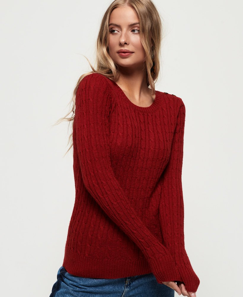 Superdry Croyde Cable Knit Jumper thumbnail 1