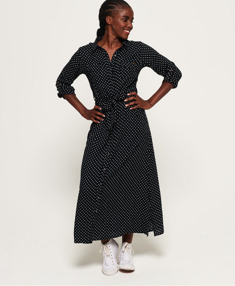 Superdry Sloane Midi Shirt Dress thumbnail 1
