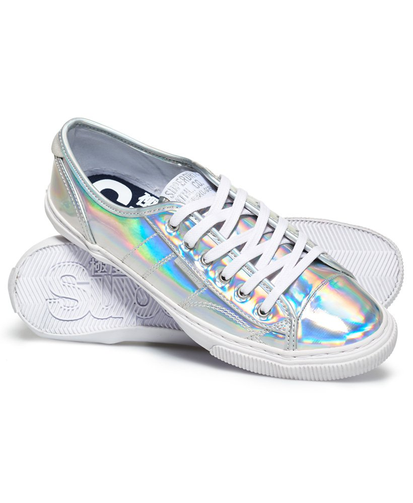 Low Pro Luxe Trainers in Silver | Superdry